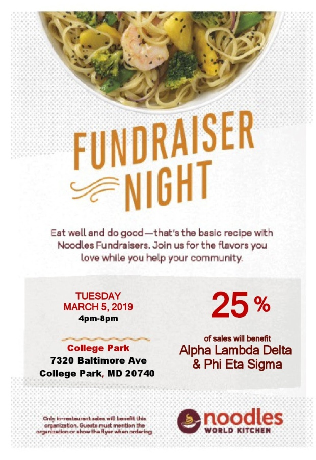 Noodles Company Fundraiser